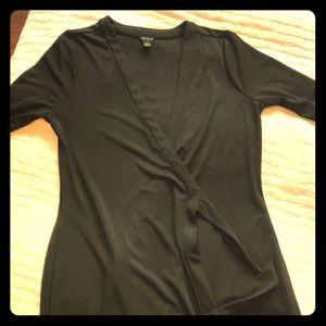Ann Taylor black wrap dress size 6